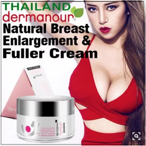 DERMANOUR Natural Breasts Enlargement N Fuller Cream 30g for fuller beautiful bust. Top Brand from Thailand