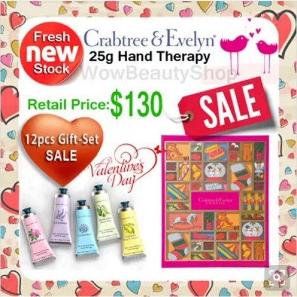 CRABTREE & EVELYN Hand Therapy Cream 12x25g Gift Box