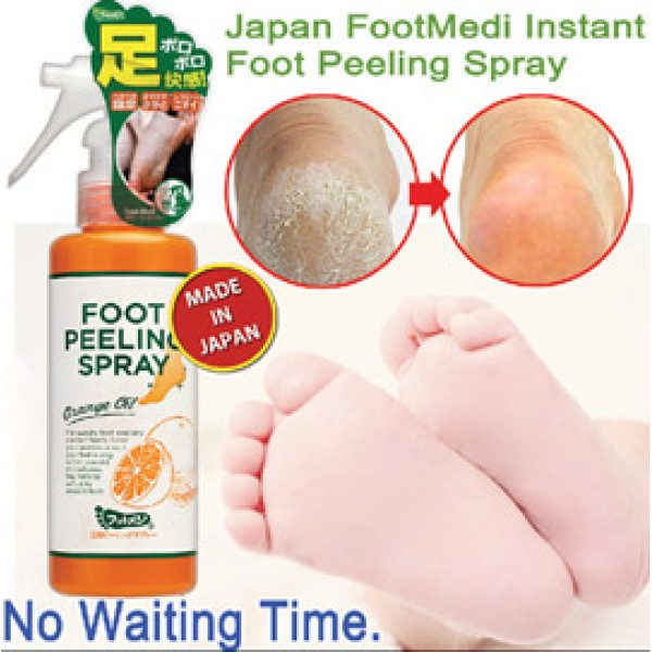 Japan FOOTMEDI Instant Peeling Spray:Regain Baby-Smooth feet / foot. Remove dark elbow/knee/buttock too!